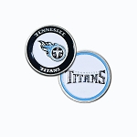 Tennessee Titans Double Sided Golf Ball Marker