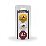 Washington Redskins 3 Golf Ball Clamshell
