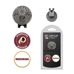 Washington Redskins 2 Golf Ball  Marker s and magnetic Cap Clip