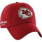 Kansas City Chiefs NFL Logo Bridgestone Golf Hat / Cap