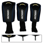 Los Angeles Chargers Set of Three Mesh Headcovers