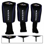 Baltimore Ravens Set of Three Mesh Golf Headcovers