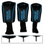 Carolina Panthers Set of Three Mesh Golf Headcovers