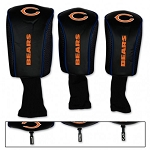 Chicago Bears Set of Three Mesh Golf Headcovers