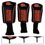 Cleveland Browns Set of Three Mesh Golf Headcovers