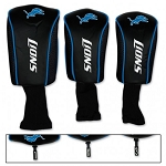 Detroit Lions Set of Three Mesh Golf Headcovers