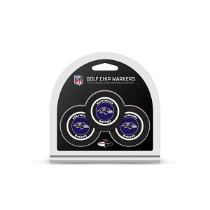 Baltimore Ravens NFL Set of 3 Poker Chips