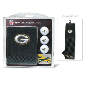 Green Bay Packers Embroidered Golf Towel Gift Set