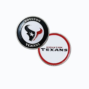 Houston Texans Double Sided Golf Ball Marker
