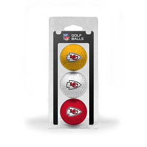 Kansas City Chiefs 3 Golf Ball Clamshell