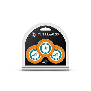 Miami Dolphins NFL Set of 3 Golf Poker Chips