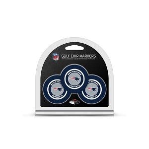New England Patriots NFL Set of 3 Golf Poker Chips