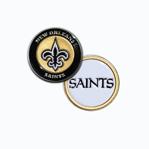 New Orleans Saints Double Sided Golf Ball Marker