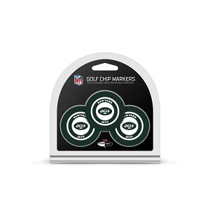 New York Jets NFL Set of 3 Golf Poker Chips