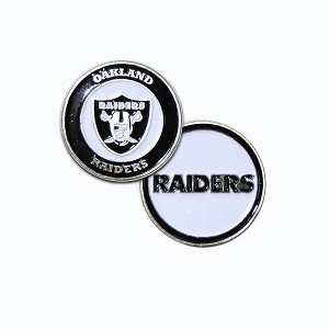 Raiders Double Sided Golf Ball Marker