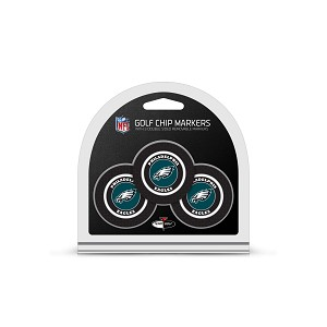 Philadelphia Eagles NFL Set of 3 Poker Chips