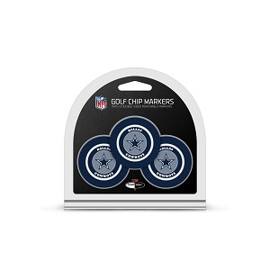 Dallas Cowboys NFL Set of 3 Golf Poker Chips