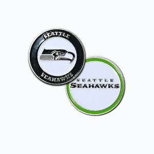 Seattle Seahawks Double Sided Golf Ball Marker