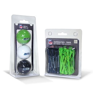 Seattle Seahawks 3 Golf Ball/50 Golf Tee