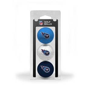 Tennessee Titans 3 Golf Ball Clamshell