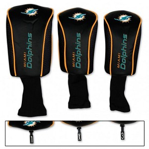 Miami Dolphins Set of Three Mesh Headcovers
