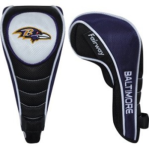 Baltimore Ravens Shaft Gripper Fairway Head Cover